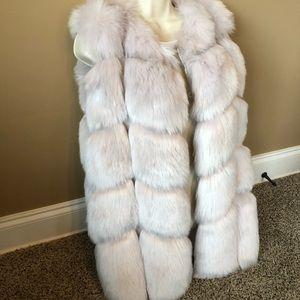Jackets & Blazers - Faux Fox Fur Warm Slim Long Vest